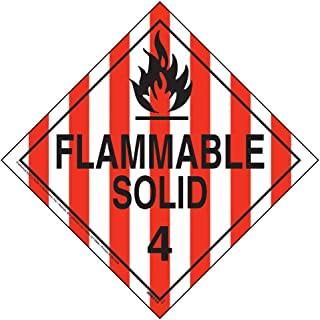Division 4.1 Flammable Solid Placard, Worded - 10.75