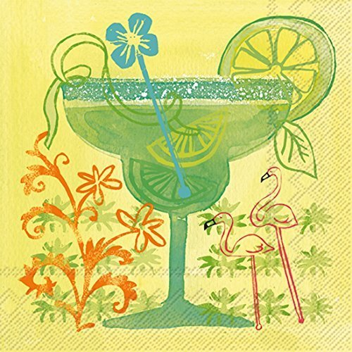 Ideal Home Range 20 Count 3-Ply Paper Fruit Cocktail Napkins, Margarita by Ideal Home Range