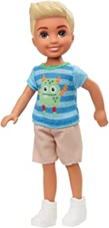 Barbie Club Chelsea Boy Doll (6-inch Blonde) with Monster Graphic Shirt and Shorts