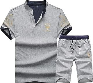 Men's Running Shorts T-Shirt Workout 2-Piece Sets Jogger Tracksuits