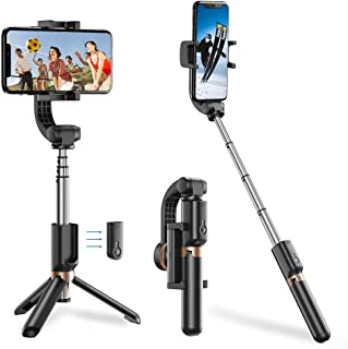 Apexel Bluetooth Selfie Stick, Handheld Extendable Phone Tripod with Single Axis Gimbal Anti-Shaking Stabilizer for iPhone...