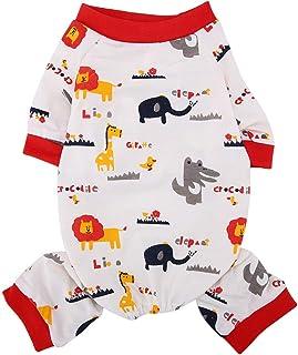 e6b3e878cd480 Chiens Pyjama en Coton Respirant pour Animaux Combinaison de Bande dessinée  Motif d'éléphant pour