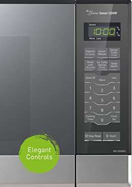 Panasonic Microwave Oven NN-SN686S Stainless Steel Countertop/Built-In with Inverter Technology and Genius Sensor, 1.2 Cubic