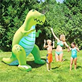 Mopoq Water Play Sprinkler Inflatable Dinosaur Kids Spray Water Toy Outdoor Party Summer Fun for Backyard Play Pool Party Decoration