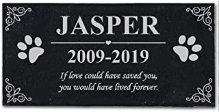 somiss Personalized Pet Memorial Stones,Customized Pet Grave Markers Headstones for Dogs or Cats,Pet Memorial Gifts