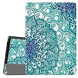 Fintie Hülle für Lenovo Tab E10 - Superdünne Superleicht Schutzhülle mit Standfunktion für Lenovo Tab E10 TB-X104F 10,1 Zoll Tablet 2019(Nicht für Lenovo Tab M10), Smaragdblau
