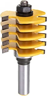 Yakamoz Professional Adjustable 1/2 Shank Finger Joint Router Bit with 1-7/8-Inch Diameter