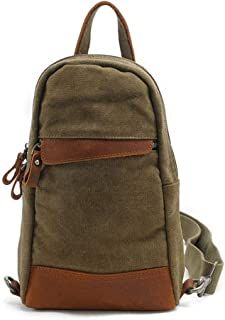 Mens Bag Five Color,Men's Casual Canvas Chest Bag Business Briefcase Handbag Shoulder Bag Travel Sports High capacity