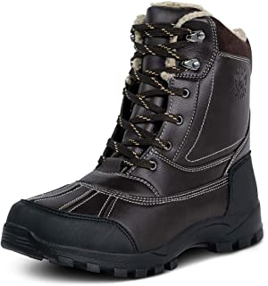 Mens Waterproof Snow Boots,Hiking Bean Hiker Walking Ankle Boots