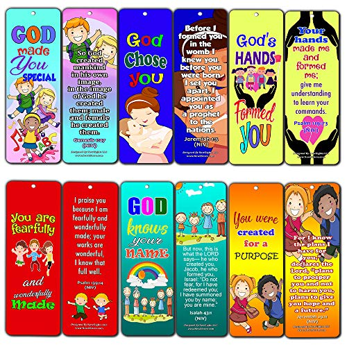 Children of God Bible Verses Bookmarks Cards (30-Pack) - Handy Memory Verses for Kids Perfect for Children's Ministries and Sunday Schools