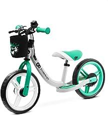 kk Kinderkraft Bicicletta SPACE, Bici senza Pedali, in Metallo, Poggiapiedi, Accessori, Freno tamburo, Fino 35 Kg, Verde