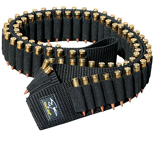 Rifle Cartridge Ammo Bandoleer with 80 Secure Elastic Loops