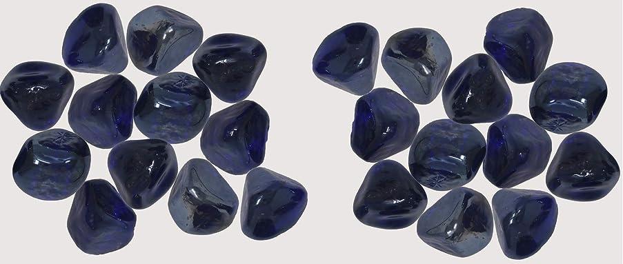 K-Kraft Glass Gems Vase Filler, Table Scatter, Distinctive Craft Accents, 4.4 Pounds (Cobalt Blue)