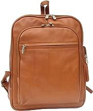 Piel Leather Front Pocket Computer Backpack, Saddle, One Size