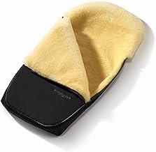 Set Hofbrucker Lammfell-Fußsack Polaris für Kinderwagen & Buggy mit Stoffwindel von Kinderhaus Blaubär/Winterfusssack geeignet für BUGABOO oder JOOLZ/medizinisches Lammfell, Design:schwarz