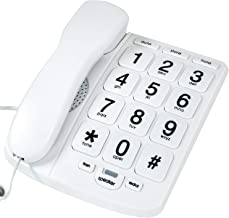 $22 » Tyler TBBP-4-WH Telephone for Seniors - Large Button Landline Phone for Elderly with Loud Speaker, Speed Dial, Ringer Volu...