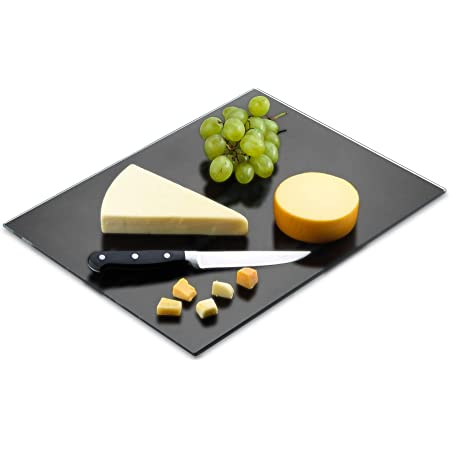 Tempered Glass; 10.75\u201d x 7.75 x .188\u201d photograph red fruit 1222 MADE IN USA Cheerful cherries! Dishwasher Safe glass cutting board