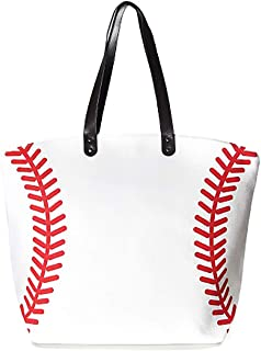 Funky Junque Womens Beach Bag Sports Game Day Baseball Football Shoulder Tote