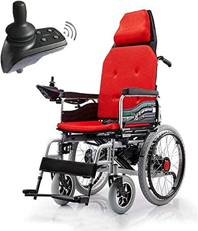 Caiyuankai Silla de ruedas eléctrica, silla de ruedas eléctrica Silla de ruedas plegable ultraligera Ergonómica Ultraportátil eléctrica Resistente a la intemperie Adulto Compacto y duradero Viaje