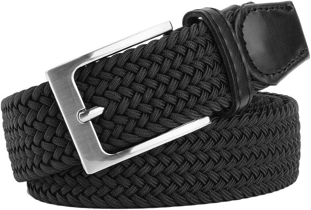 Men's Belt, Elastic Braided Work Belt, Canvas Elastic Stretch Men's Belt, Woven Stretch Braided Belt for Men