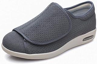 B/H Réglable Velcro Orthopédique Pantoufles,Velcro élargit Les Chaussures de gonflement du Pied, Chaussures de Pied diabét...