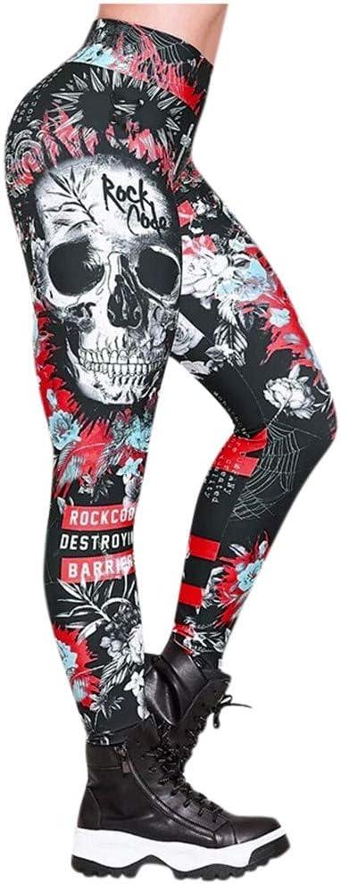 Womens Yoga Pants High quality Tummy Control Skull Leggings Minneapolis Mall Waisted