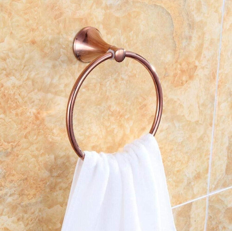 Ring-Towels Wall-Copper Door Door Accessories Towels of Bathroom Dry-Towels,Ring Pink gold