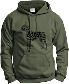 ThisWear Boxer Word Art Dog Puppy Owner Gift Hoodie Sweatshirt