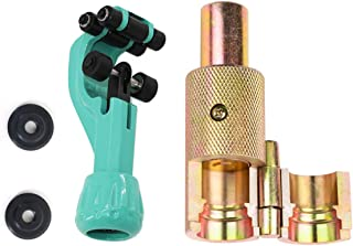 NVHQ フレキ管 パイプ カッター ツバ出し工具 ハンマータイプ 日本語説明書付 替刃2枚付 (外径Φ16mm(4分))