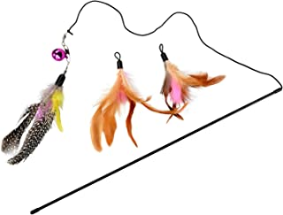 Beauenty Cat Toys Bird Catcher Pro Interactive Cat Teaser with Two Feather Refill Replacement Pack