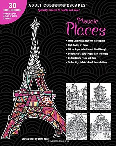 Mosaic Places (Adult Coloring Escapes)