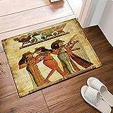 Antico dipinto egiziano Le donne hanno giocato i tappeti da bagno Guqin antiscivolo zerbin...