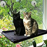 PetIsay Fenêtre de Chat Perchoir Hamac Lit pour Chat Kitty Sunny Assise Durable pour Animal Domestique Perchoir avec Version améliorée 4 Big ventouses pour Chat Peut contenir jusqu'à 27,2 Kilogram