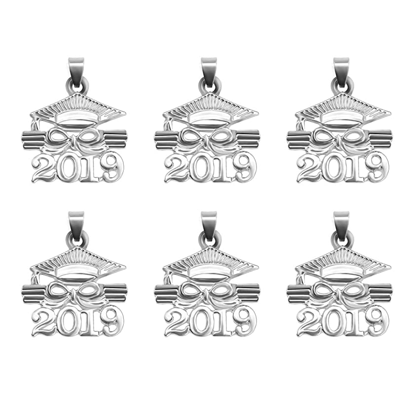 LUOEM 2019 Graduation Charm Pendants Graduation Cap Diploma Pendants Zinc Alloy Graduation Souvenir Gifts for Jewelry Making DIY