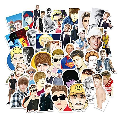 Actor Justin Bieber Graffiti Sticks 51 Piezas de Maleta para portátil, Nevera, Guitarra, decoración de Coche, Pegatinas