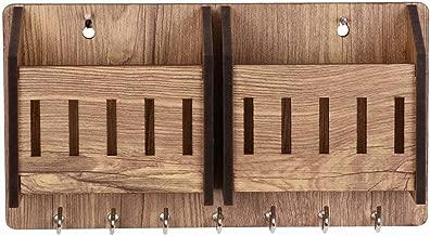 Sehaz Artworks 2-Pocket-WT-KeyHolder Wooden Key Holder (7 Hooks)