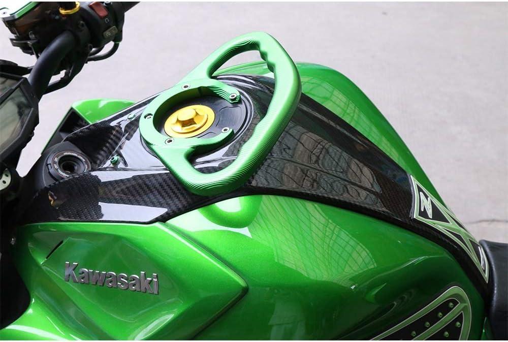 Couleur : Noir LANGRMS Poign/ées de moto passager CNC Poign/ée de r/éservoir Poign/ées Accoudoir Compatible avec Kawasaki Z800 Z1000