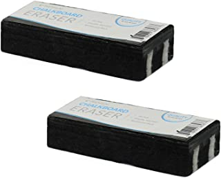 Traditional Chalkboard Eraser, All Felt 6 Inch Premium Quality Chalk Eraser, Set of 2 (2 Pack)