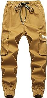 LAUSONS Jogging para Niños Pantalones Cargo con Cintura Elástica