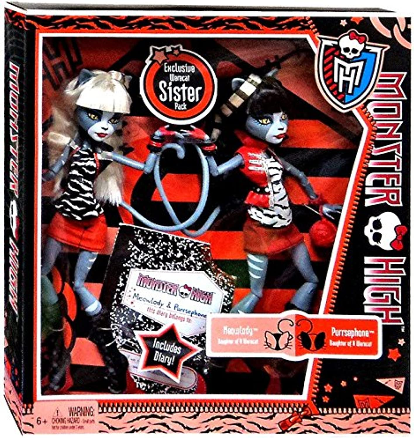 increíbles descuentos Monster Monster Monster High Werecat Twin Sisters Meowlody & Purssephone  conveniente