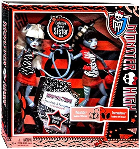 Monster High Werecat Twin Sisters - Meowlody and Purrsephone Poupée