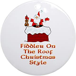 CafePress Christmas Fiddler On The Roof Ornament (Round) Round Holiday Christmas Ornament