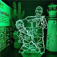 GMYXSW 3D夜ライト西之屋と田中LED 3Dナイトライトイリュージョンアニメランプカラーの家の装飾