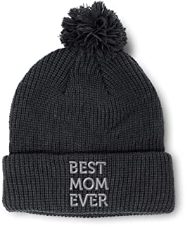 Winter Pom Pom Beanie Men /& Women Bowling Grandpa A Embroidery Skull Cap Hat