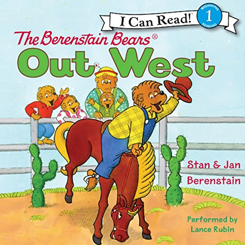 The Berenstain Bears Out West audiobook cover art