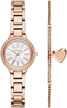 Michael Kors Women's Taryn Quartz Watch with Stainless-Steel-Plated Strap, Rose Gold, 16 (Model: MK3858)