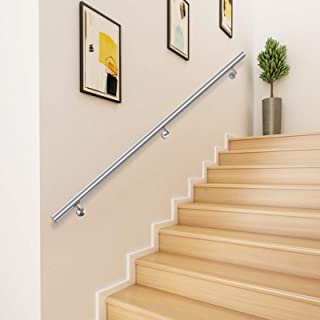 Zoternen Stainless Steel Stairs Staircase Railing Handrail Grab Rail Banister Rail Support 80cm