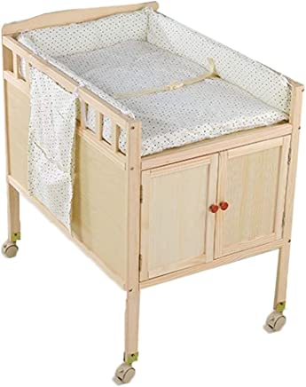 Infant Changing Table Baby Bath Tub Unit Rolling Station Storage Dresser Blue Pink Yellow  Color Yellow