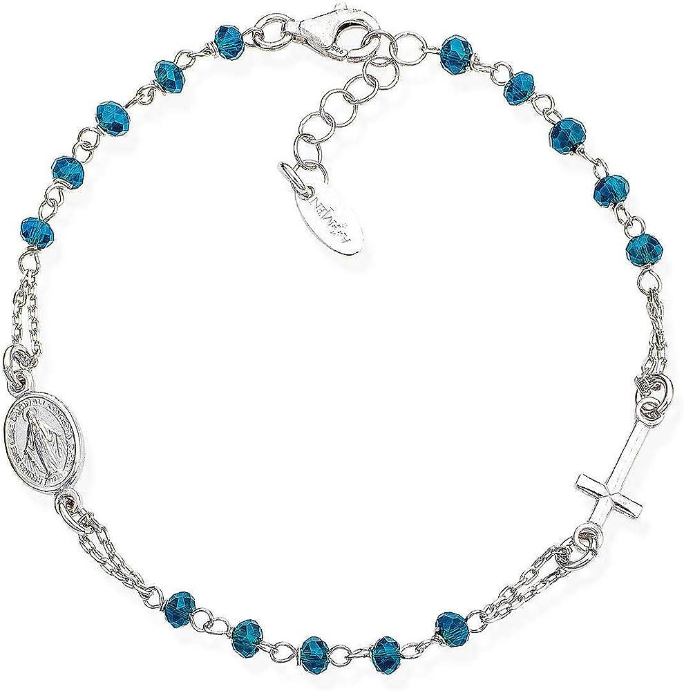 Amen, bracciale per donna,in argento 925 e cristalli BROBBL3