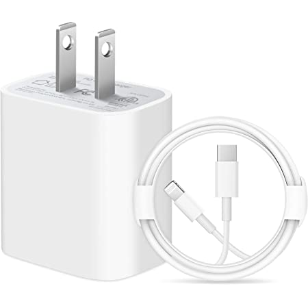 iPhone 12 Fast Charger【Apple MFi Certified】 20W PD Fast Type C Wall Charger with 6FT USB C to Lightning Cable Compatible iPhone 12/12 Mini/12Pro/12 Pro Max/11/11 Pro Max/Xs Max/XR/X, iPad